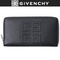 GIVENCHY Unisex Plain Leather Long Wallets