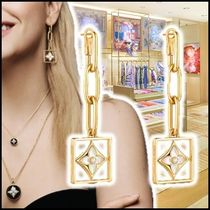 Louis Vuitton 2019-20AW B BLOSSOM EARRINGS, YELLOW GOLD, WHITE MOTHER-OF-P