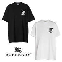 Burberry Street Style Plain Oversized T-Shirts