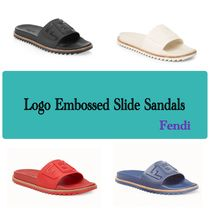 FENDI Unisex Plain Shower Shoes Shower Sandals