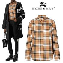 Burberry Other Check Patterns Plain Shirts & Blouses