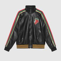 GUCCI Casual Style Street Style Plain Leather Medium Oversized