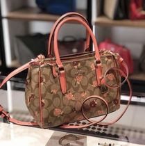 Coach Flower Patterns Street Style 2WAY PVC Clothing Elegant Style