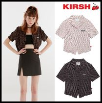 KIRSH Casual Style Street Style Short Sleeves Shirts & Blouses