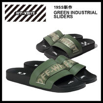 Off-White Street Style Plain Shower Shoes Shower Sandals
