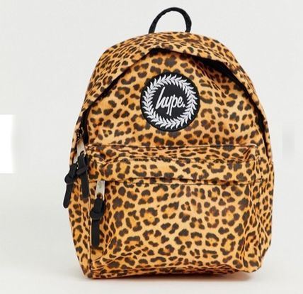 Leopard Patterns Casual Style Backpacks