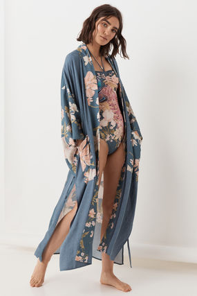 Flower Patterns Long Gowns Cardigans