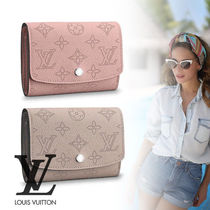 Louis Vuitton MAHINA Monogram Street Style Leather Folding Wallets