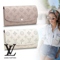 Louis Vuitton MAHINA Monogram Street Style Leather Long Wallets