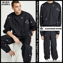 Alexander Wang Unisex Street Style Collaboration Top-bottom sets