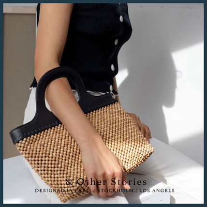 Blended Fabrics Street Style A4 Straw Bags