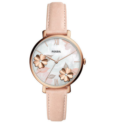 Casual Style Leather Round Quartz Watches Office Style