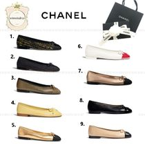 CHANEL Metallic Ballet Shoes