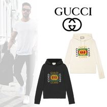 GUCCI Street Style Long Sleeves Cotton Sweatshirts