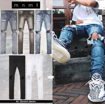 MNML Denim Street Style Plain Skinny Fit Jeans & Denim