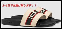 GUCCI Street Style Shower Shoes PVC Clothing Shower Sandals