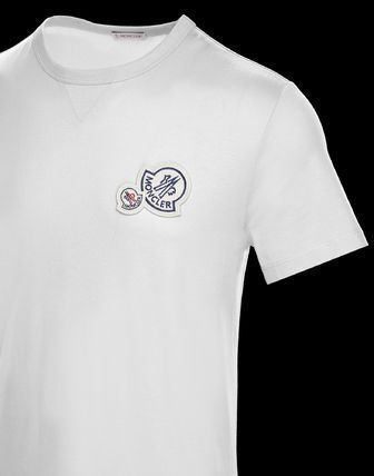 MONCLER More T-Shirts Street Style Plain Cotton Short Sleeves Logo T-Shirts 3