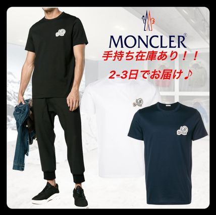 MONCLER More T-Shirts Street Style Plain Cotton Short Sleeves Logo T-Shirts