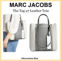 MARC JACOBS THE TAG TOTE 2WAY Bi-color Plain Leather Totes