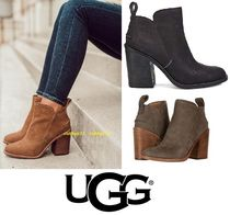 UGG Australia Plain Toe Casual Style Plain Leather Block Heels