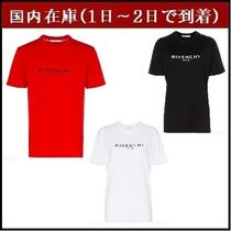 GIVENCHY Crew Neck Street Style Cotton Short Sleeves