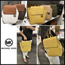 Michael Kors 2WAY Plain Leather Backpacks