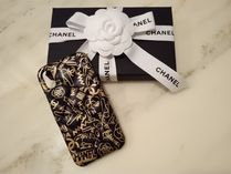 CHANEL MATELASSE Unisex Leather iPhone X Smart Phone Cases