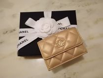 CHANEL MATELASSE Leather Folding Wallets