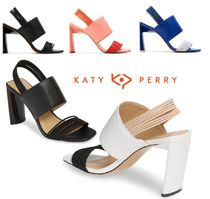 Katy Perry Open Toe Casual Style Blended Fabrics Street Style Plain