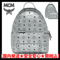 MCM Monogram Casual Style Unisex Street Style Bag in Bag A4