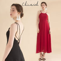 Chicwish Maxi Sleeveless Plain Long Party Style Dresses