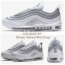 Nike AIR MAX 97 Stripes Unisex Plain Leather Sneakers