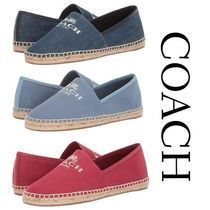 Coach Round Toe Casual Style Plain Slip-On Shoes