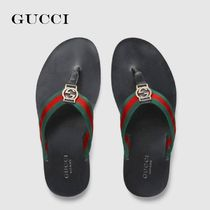 GUCCI Leather Shower Sandals