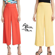 Alice+Olivia Casual Style Plain Long Culottes & Gaucho Pants