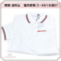 PRADA Plain Cotton Short Sleeves Polos