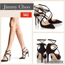 Jimmy Choo Pin Heels Party Style Pointed Toe Pumps & Mules