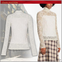 Louis Vuitton Flower Patterns Lace-up Long Sleeves Medium Lace