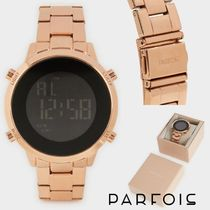 PARFOIS Casual Style Round Digital Watches