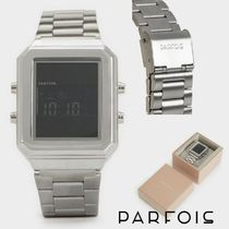 PARFOIS Casual Style Square Digital Watches