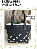 kate spade new york Flower Patterns Blended Fabrics A4 Totes