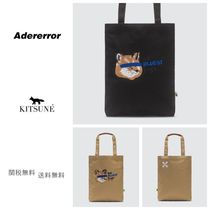 ADERERROR Unisex Collaboration Logo Totes