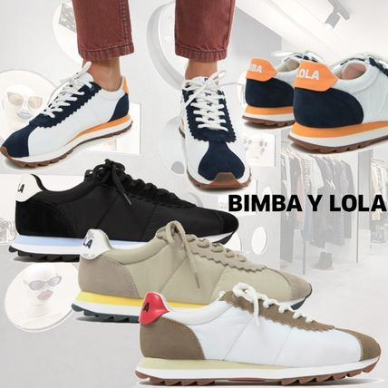 Round Toe Rubber Sole Casual Style Bi-color Low-Top Sneakers