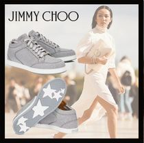 Jimmy Choo Casual Style Plain Leather Low-Top Sneakers