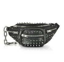Alexander Wang Unisex Studded 2WAY Leather Party Style Shoulder Bags