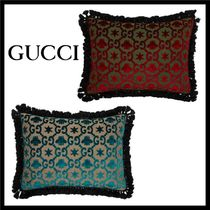 GUCCI Unisex Tassel Fringes Decorative Pillows
