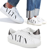 VALENTINO VLTN Unisex Street Style Leather Sneakers
