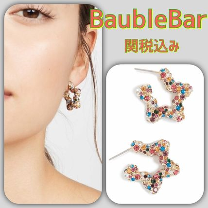 Star Casual Style Blended Fabrics Brass Earrings & Piercings