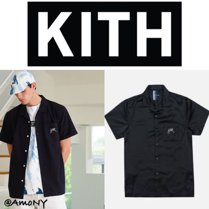 KITH NYC Shirts Button-down Street Style Short Sleeves Shirts