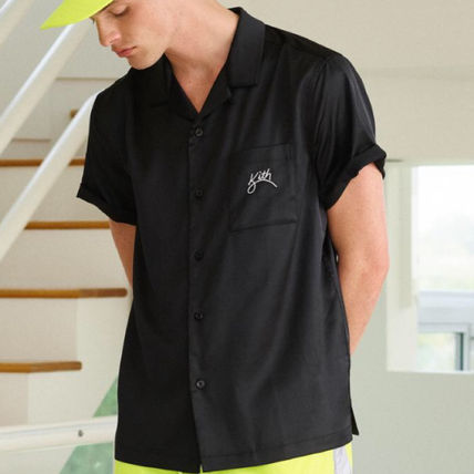 KITH NYC Shirts Button-down Street Style Short Sleeves Shirts 5